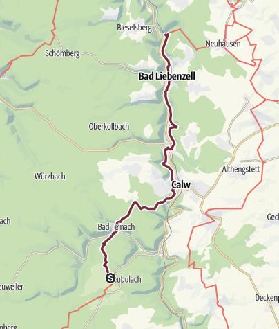 Karte / 16 Neubulach - Bad Liebenzell