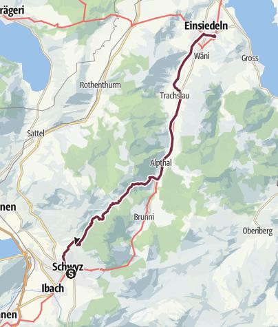 Karte / 1 Schwyz - Einsiedeln