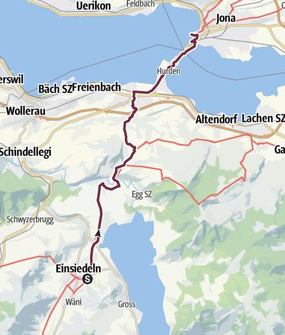 Karte / 2 Einsiedeln Rapperswil