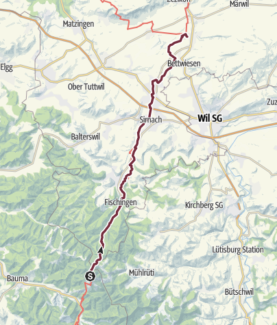 Karte / 4 Hörnli - Tobel-Tägerschen