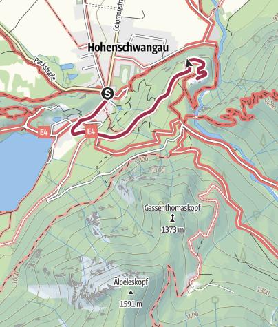 Karte / Besichtigung Schloss Neuschwanstein