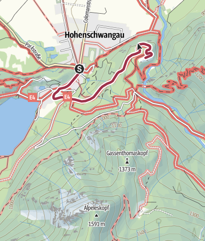 Map / Walk to Neuschwanstein castle