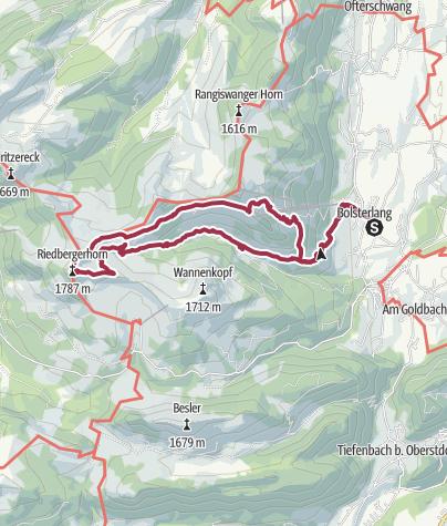 Map / Bolsterlang Talstation zum Riedberghorn