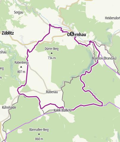 """Karte / Radrundtour """"Gelbes Reiterlein"""""""