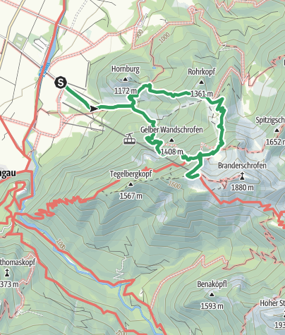 Karte / Gelbe Wand Steig