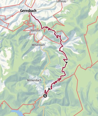 Map / Abseitz Tour 11.08.2017