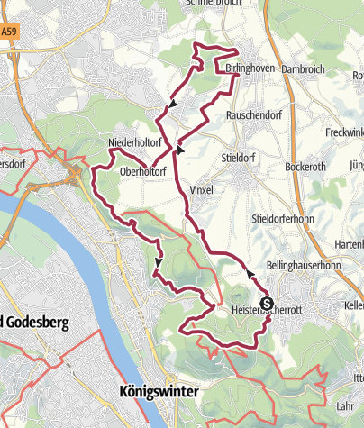 Karte /  GA-Wandertag 2017 - 30km | 40 Jahre GA-Wandertag