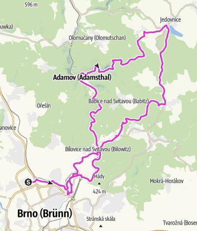 Karte / Brno Jedovnice