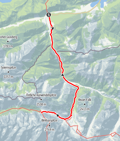 Map / Alpenüberquerung Bad Tölz - Bozen Etappe 3