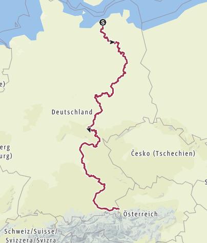 Hartă / D11 München nach Rostock