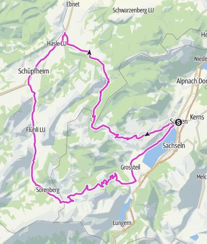 Karte / Panorama-Runde Sarnen Entlebuch Panoramastraße
