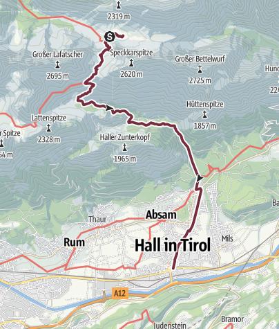 Karte / Alpenüberquerung Bad Tölz - Bozen Etappe 5
