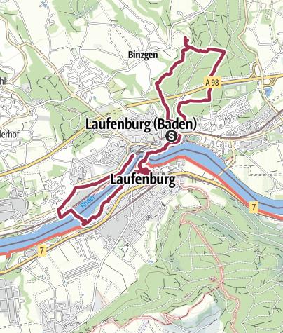 Karte / Um und durch Laufenburg