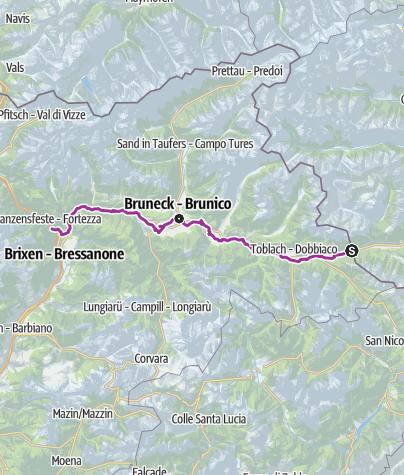 Karte / Pustertaler Radroute – Bike, Natur & bäuerliche Lebenswelt