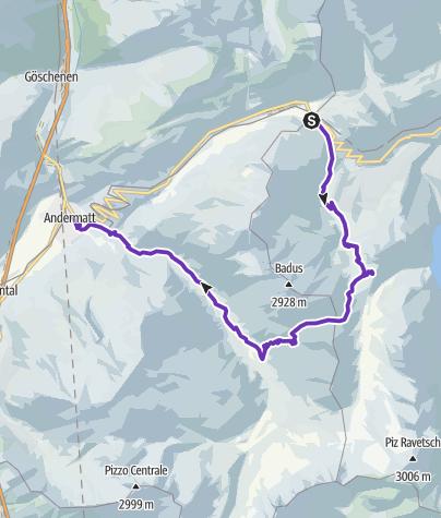 Karte / Lolenpass (Pass Tagliola)