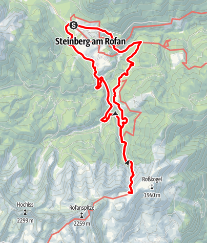 Karte / Steinberg am Rofan - Zireiner See