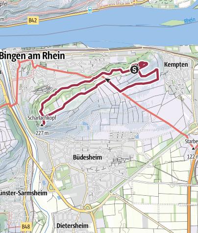 Karte / RheinhessenWunderTour: Der Rochusberg bei Bingen