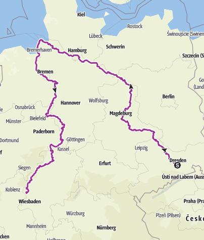 Karte / Tourenplanung am 28. Juni 2017
