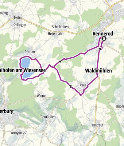 """Mapa / Radrunde """"Rennerod-Achter"""""""