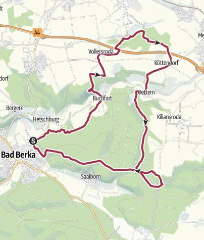 Karte / Thüringer Drei- Türme- Weg | Thüringer Qualitätswanderweg