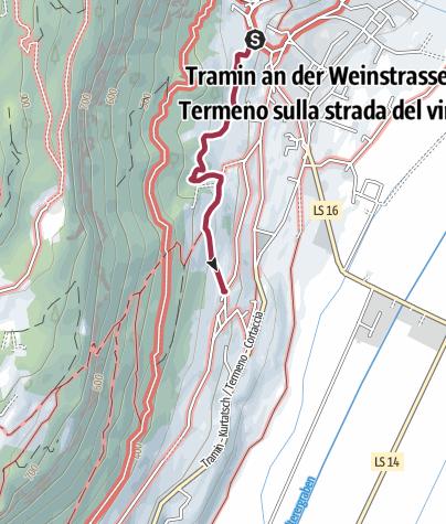 Cartina / Passeggiata del Gewürztraminer