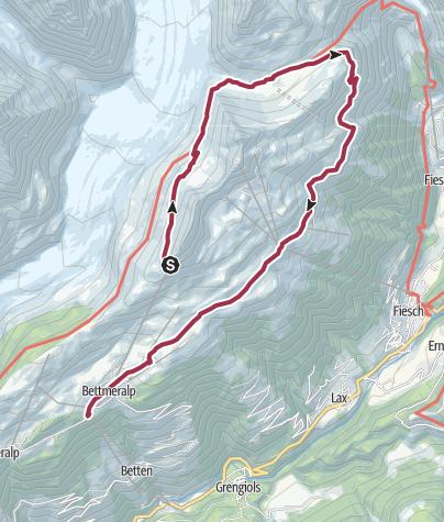 Karte / VAL   1: Aletsch Panoramaweg