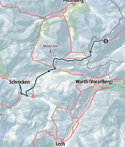 Map / VIA ALPINA - RED ROUTE - STAGE TWELVE