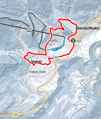 Map / Muntatsch -Segnas Rundtour