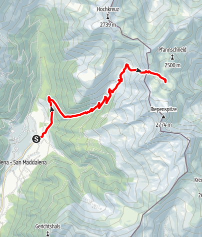 Map / Lago Swarzsee