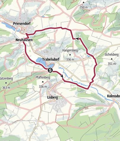 Karte / Trabelsdorf - Feigendorf - Triefenbach - Neuhausen