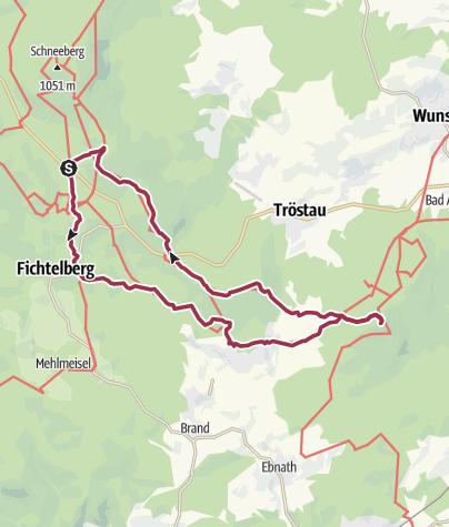 Karte / Hiker's Guide to Franken: Fichtelgebirge 1