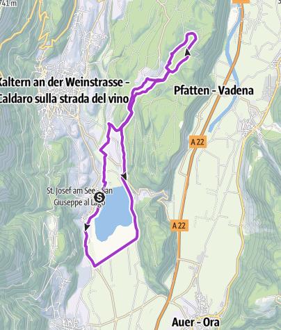Map / Three lakes trail