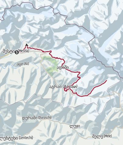 Map / Georgia: Mestia - Ushguli [draft]