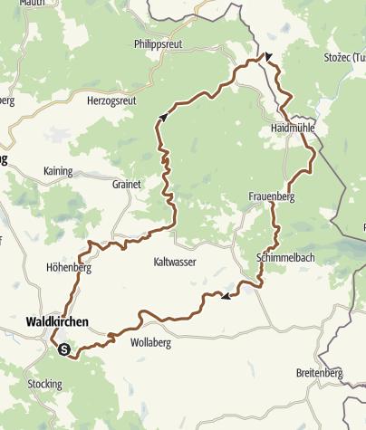 Karte / RSC Von Waldkirchen in den Böhmerwald