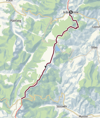 Carte / Traversée du Massif des Vosges - Etape 14 - Le Bonhomme / Col de la Schlucht