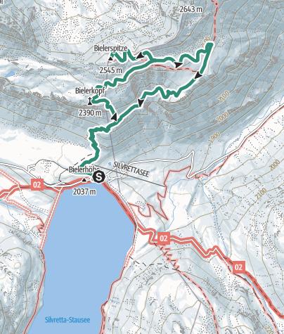 地图 / Bielerspitze 2506 m