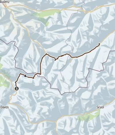 Map / Klosters - Ischgl (Etappe 6)