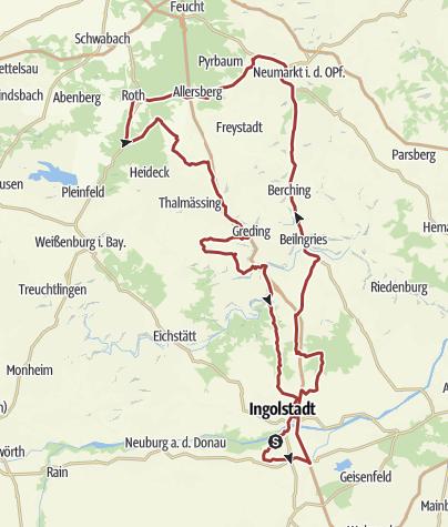 Karte /  13. Juli 2017 Rollerausfahrt Postbauer-Heng