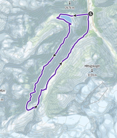 Karte / Mandarfen, Rifflsee, Fuldaer Höhenweg, Taschachhaus, Mandarfen