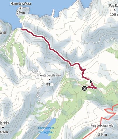 Karte / GR221_11 Torrent de Pareis