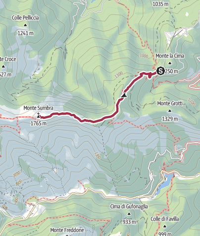 Karte / Tribbio-Sumbra