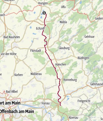 Karte / Trais Horloff - Hanau Wolfgang