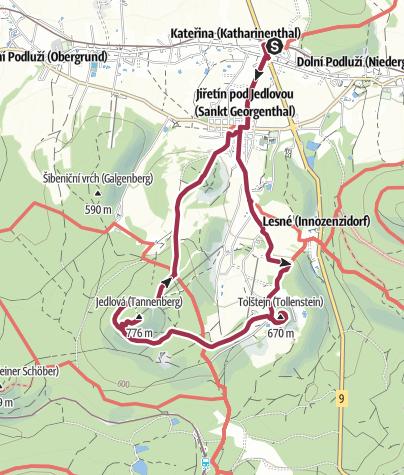 Karte / Tour 11: Ins Tollensteiner Revier