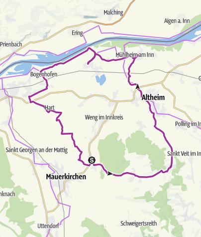 Karte / Moosbach,Roßbach,Altheim,FrauensteinSt.Peter am Hart,Moosbach