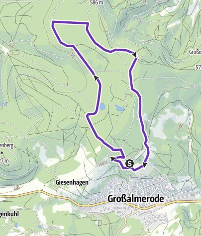 Karte / große Runde Steinbergsee