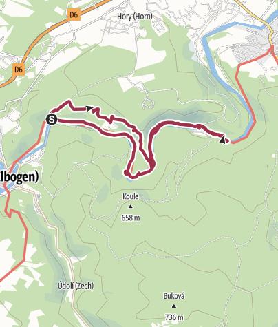 Karte / Rundweg an der Eger