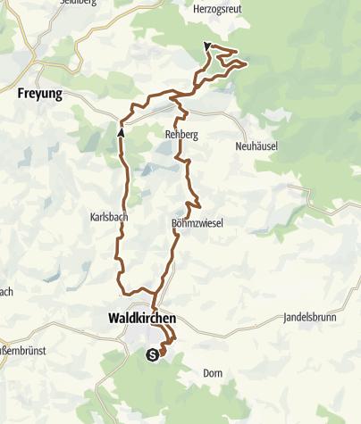 Karte / RSC Von Waldkirchen nach Schwendreut und zum Kienzelberg