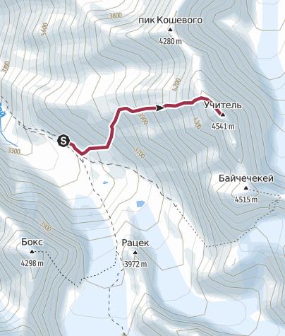 Map / Uchitel Peak