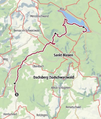 Karte / Eseltrekking Steinernes Kreuz - Schluchsee