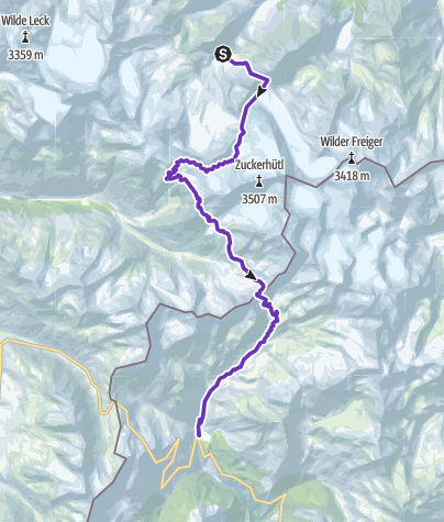 Karte / Speed Transalp 2017   3. Etappe